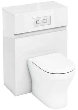 Related Aqua Cabinets D300 White 600mm Back To Wall WC Unit With Flush Plate