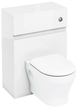 Related Aqua Cabinets D300 White 600mm Wall Hung WC Unit With Push Button