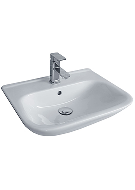 Related Glaze 520mm 1 Tap Hole Semi-Recessed Basin