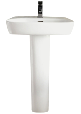 Related E-Right 600 x 410mm Basin With Full Pedestal