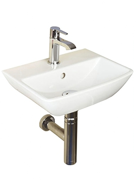 Related Rose 400mm 1 Tap Hole Wall Hung Basin