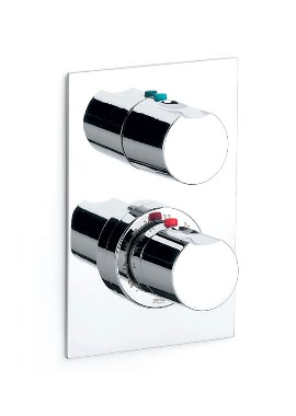 Related Roca Moai Built-In Thermostatic Bath or Shower Valve With Diverter