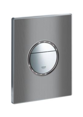 Related Grohe Nova Cosmopolitan Dual Flush WC Wall Plate Black Graphics