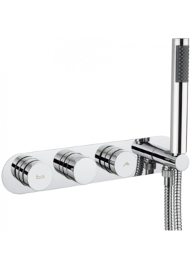 Related Crosswater Dial Bath - Shower Valve With Central Trim And 1 Mode Handset