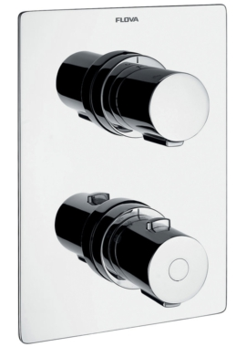 Related Flova Annecy Concealed Thermostatic Shower Valve With 2 Way Diverter