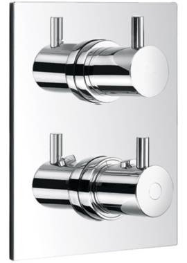 Related Flova Levo Concealed Thermostatic Shower Valve With 3 Way Diverter - Square
