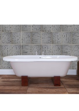 Related Cranford Cast Iron Free Standing Bath With Wood Feet 1800 x 820mm