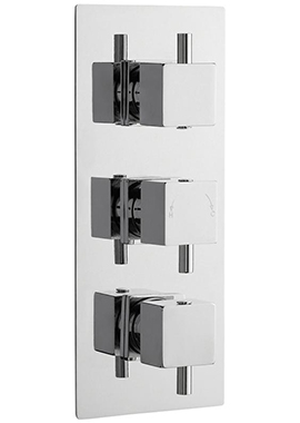 Related Lauren Volt Square Thermostatic Triple Valve With Diverter