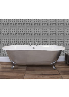 Related JIG Bisley Fully Polished Cast Iron Free Standing Bath With Feet 1700 x 750mm