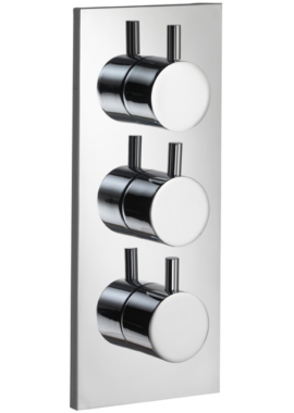 Related Pura Ivo Twin Outlet Triple Control Concealed Thermostatic Shower Valve