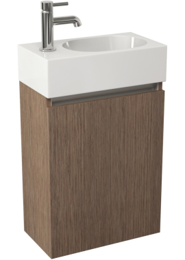 Related Pura Echo 400mm Soft Oak Single Door Wall Mounted Unit And Basin