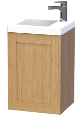 Related Miller London 40 Oak Wall Hung Basin Vanity Unit With Door