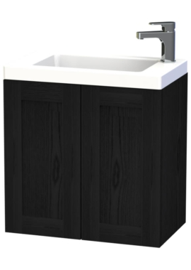 Related Miller London 60 Black Double Door Wall Hung Basin Vanity Unit