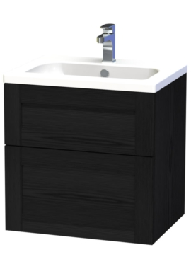Related Miller London 60 Black Two Drawer Wall Hung Vanity Unit