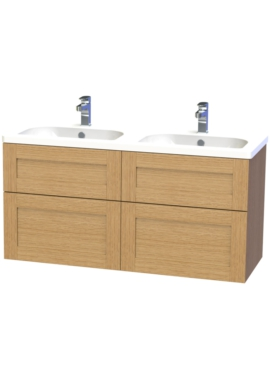 Related Miller London 120 Oak Four Drawer Wall Hung Vanity Unit