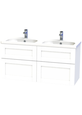 Related Miller London 120 White Four Drawer Wall Hung Vanity Unit