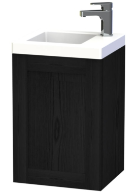 Related Miller London 40 Black Wall Hung Basin Vanity Unit With Door
