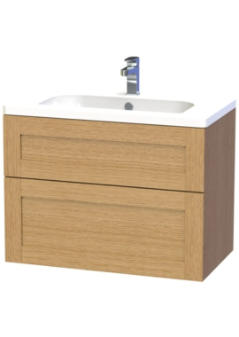 Related Miller London 80 Oak Two Drawer Wall Hung Vanity Unit