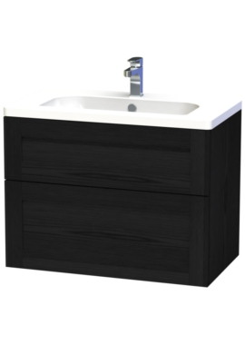 Related Miller London 80 Black Two Drawer Wall Hung Vanity Unit