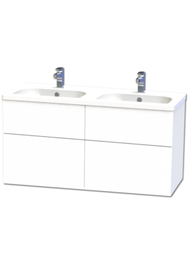 Related Miller New York 120 White Four Drawer Wall Hung Vanity Unit