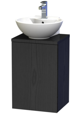 Related Miller New York 40 Black Wall Hung Basin Vanity Unit With Door And Worktop