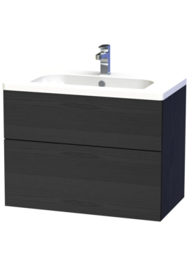 Related Miller New York 80 Black Two Drawer Wall Hung Vanity Unit