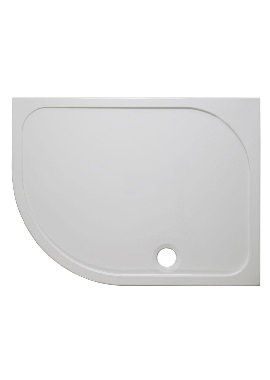 Related Simpsons 45mm Stone Resin LH Offset Quadrant Tray With Waste 1000 x 800mm