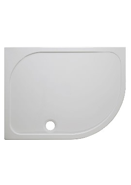 Related Simpsons 45mm Stone Resin RH Offset Quadrant Shower Tray 1200 x 900mm