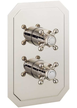 Related Crosswater Belgravia Crosshead Nickel Portrait Thermostatic Valve With 2D
