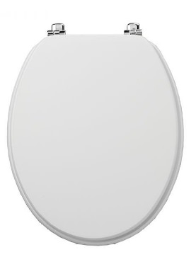 Related Tavistock Millennium White Toilet Seat With Chrome Hinges
