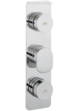 Related Crosswater Dial 2 Control Shower Valve With Pier Portrait Trim