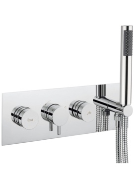 Related Crosswater Dial Bath - Shower Valve With Kai Lever Trim And 1 Mode Handset