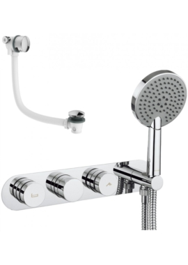 Related Crosswater Dial Bath Valve With Central Trim - Shower Handset And Filler
