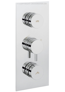 Related Crosswater Dial 2 Control Shower Valve With Kai Lever Portrait Trim