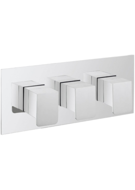 Related Crosswater Kelly Hoppen Zero 3 Landscape 3 Control Thermostatic Shower Valve