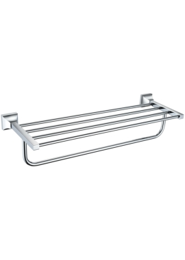 Related Heritage Chancery 590mm Chrome Double Towel Shelf