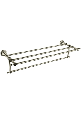 Related Heritage Holborn 615mm Vintage Gold Double Towel Shelf