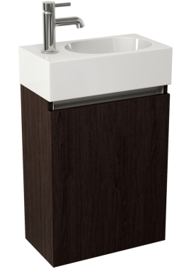 Related Pura Echo 400mm Wenge Single Door Wall Mounted Unit And Basin