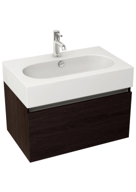 Related Pura Echo 800mm Wenge Single Drawer Wall Mounted Unit And Basin