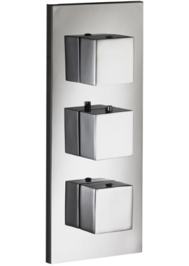 Related Pura Sq2 Twin Outlet Triple Control Concealed Thermostatic Shower Valve