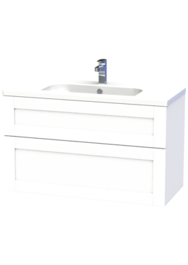 Related Miller London 100 White Two Drawer Wall Hung Vanity Unit