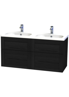 Related Miller London 120 Black Four Drawer Wall Hung Vanity Unit