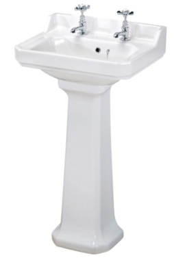 Related Beo Ambience 500mm 2 Tap Hole Basin And Full Pedestal