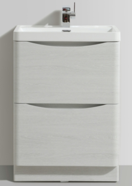Related Bali White Ash 600mm Free Standing Vanity Unit With Basin