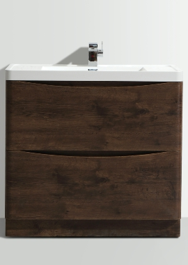 Related Bali Chestnut 900mm Free Standing Vanity Unit With Basin