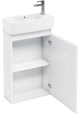 Related Aqua Cabinets Compact 250 White Floor Standing Unit And Cloakroom Basin