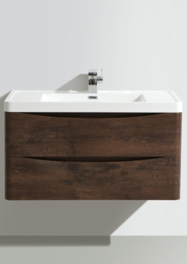 Related Bali Chestnut 900mm Wall Mounted Vanity Unit With Basin