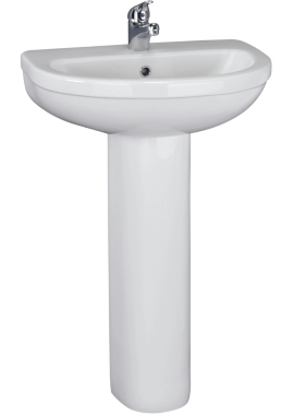 Related Montego 500mm 1 Tap Hole Basin And Full Pedestal