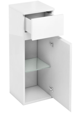 Related Aqua Cabinets D30 White 300mm Single Door And Drawer Unit