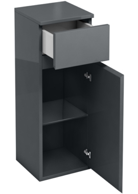 Related Aqua Cabinets D30 Anthracite Grey 300mm Single Door And Drawer Unit